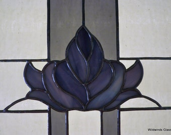 Victorian Style Flower in Stained Glass