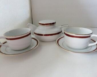 China Teapot Set,Mlesna Teapot,Noritake China, Vintage China Set, Vintage Mkesna Tea Set