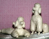Standard Poodle Couple Wedding Cake Topper from vintage 1960 mold that my grandmother gave me. These dogs will look great in your home!