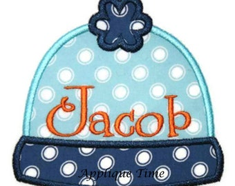 Instant Download Winter Hat Machine Embroidery Applique Design 4x4, 5x7 and 6x10