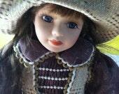 Vintage Porcelain Doll Marked Ashley Belle on tag and neck.