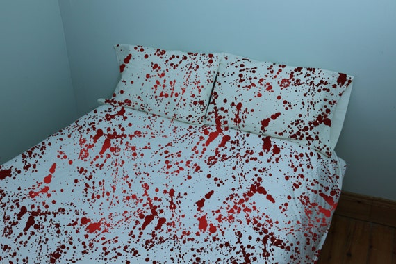 Zombie Blood Splatter Bed Sheets