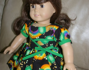 St. Patrick's Day dress for 18 inch doll