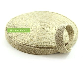 Sales! 0.8 Inch Burlap Tape Jute Braided Rope Bakers Twine Cord String for Craft Gift Weddings and Scrapebooking
