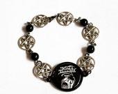 King Diamond Inverted Pentagram Bracelet