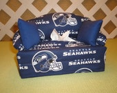 Seattle Seahawks Tissue Box Cover in Sofa Shape, Blue and White