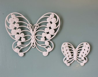 Vintage Butterfly, Set of 2