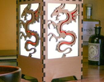 Dragon design - desktop lamp
