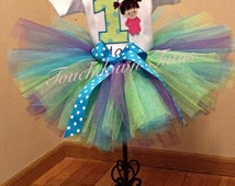 Monster Inc. Boo  birthday tutu set