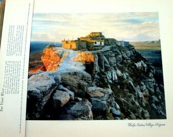 "Vintage Print, 12""x15"", Walpi Indian Village, Arizona, from 1946"