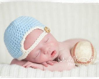 CROCHET PATTERN Baby Baseball Cap w/Bill, Newborn, 0-3 M, 3-6 M Sizes Included