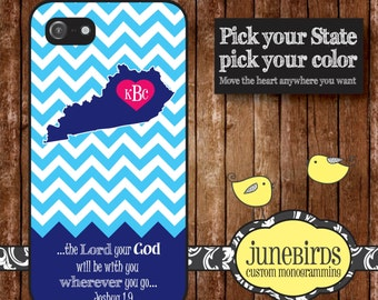 Personalized Iphone 4/4S and Iphone 5 Cell Phone Case - Joshua 1:9 Kentucky