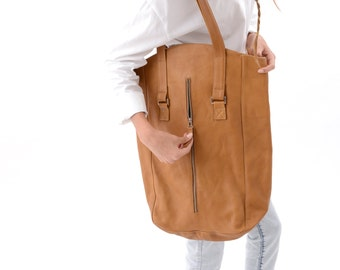 20% off cyber monday, Large Leather Laptop Bag, Everyday Distressed Tote Bag Carryall Perfect as a Shopping Bag, Weekend Bag