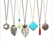 Long Pendant Necklaces - You Choose Two for 32 Dollars - Sale Price - Gift Idea
