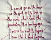 Personalised hand sewn textile art - romantic gift