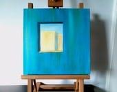 Through A Window - minimalist original oil - free shipping