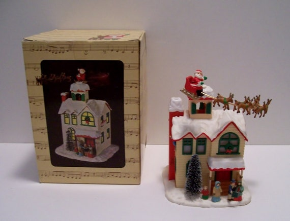 1980 enesco up on the house top music box light for House music 1980