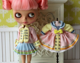 PO - Anniedollz Blythe Vintage Regimental Uniforms Coat - Peach Blush