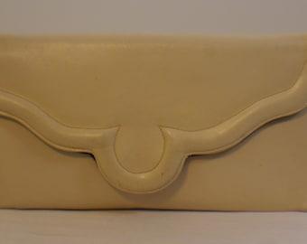 Vtg Lennox Bag Tan Leather Clutch