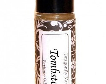 TOMBSTONE - Roll on Premium Perfume Oil -2 sizes to choose from - 1/3 oz or 1/6 oz -fresh orange, warm blend of woods sweetened with vanilla