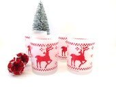 Frosted Reindeer Glassware