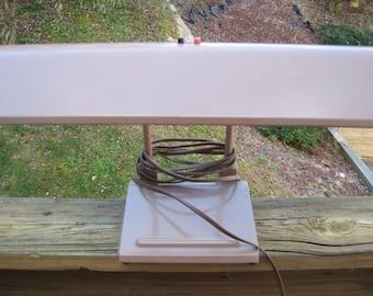 Great Vintage Mid Century Brown Industrial Desk Lamp