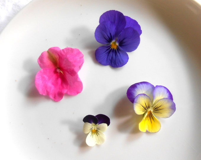 Gourmet, Candied Flowers, Crystallized, Long Lasting, Edible, Weddings, Cupcake Toppers