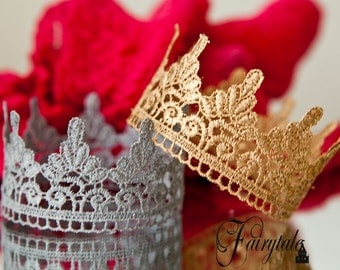 Princess or Prince Newborn Crown Prop Baby 20+ colors Newborn Infant photography Gold Silver Plum or White small mini size head fits all