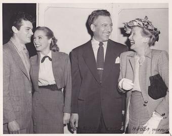 Janet Leigh Tony Curtis Ezio Pinza Hedda Hopper 13 February 1951 8x10 one of a kind Photo 300 ppi uncompressed TIFF
