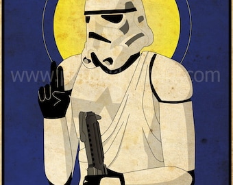 Star Wars - Imperial Saints - Stormtrooper Art Print