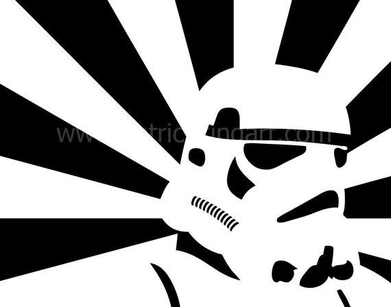Star Wars - Propaganda Style Stormtrooper Art Print