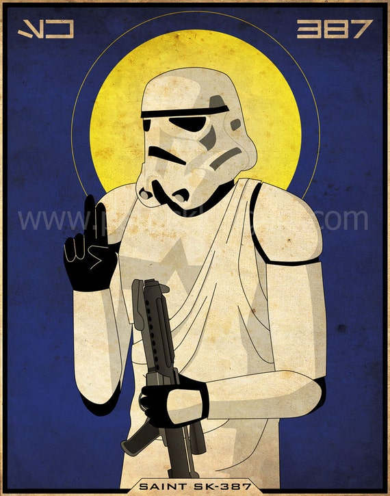Star Wars - Imperial Saints - Stormtrooper Art Print - stormtrooper, empire, poster, military, religious