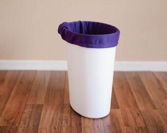 Last One --  Diaper Pail Liner - Purple Reusable Garbage Pail Liner - Laundry Bag -  Cloth Diaper Pail