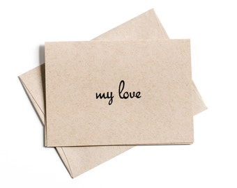 Clearance Sale, Simple Greeting Card, Paper Goods, My Love, Blank Greeting Card, Inventory Sale, Spring Sale, Clearance