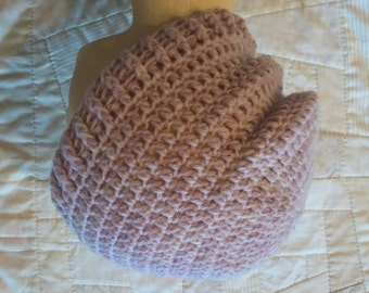 Pale pink wool slouchy beanie, womens hat, teen to adult size, light pink wool beanie, wool slouchy, pink ribbed slouchy hat