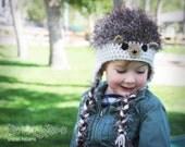 Hedgehog Hat CROCHET PATTERN instant download