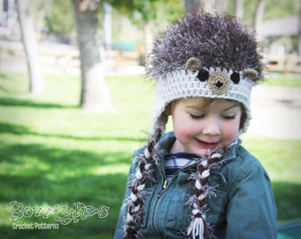 Hedgehog Hat CROCHET PATTERN instant download