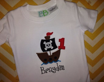 Pirate Birthday Shirt for Boys and Girls