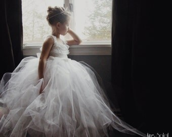 Queen Anne's Lace Tulle Flower Girl Dress