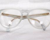 Vintage Matte Blue Eyeglasses / Jil Sanders Malta Frames