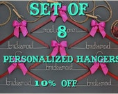 Set of 8 personalized hangers - perfect for bridal party