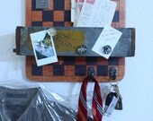 Charming Checker Board Catchall, Key Hanger, Mail Sorter, Magnet Message Board, Men's Valentine's / Father's Day Gift