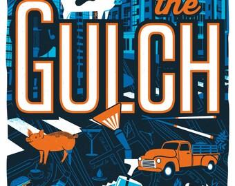 Nashville Neighborhood Poster Series- 6, The GULCH