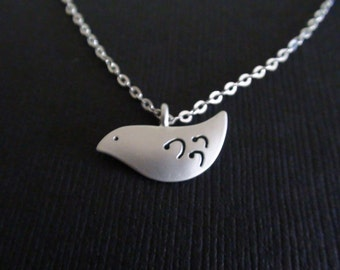Clearance-Pigeon Pendant - Sterling Silver Necklace -  special day gift, birthday gift