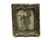 Eerie Headless Man Photo 1-inch scale Dollhouse Miniature