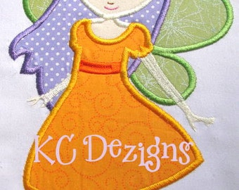 Princess Fairy 3 Machine Applique Embroidery Design - 4x4, 5x7 & 6x8