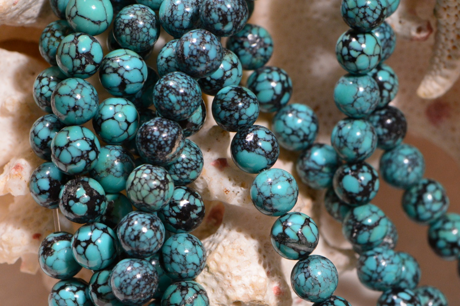 Turquoise beads 5 mm natural gemstone beads jewelry making for Birthstone beads for jewelry making