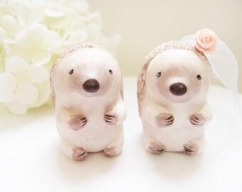 Love Wedding Cake Toppers - Hedgehog