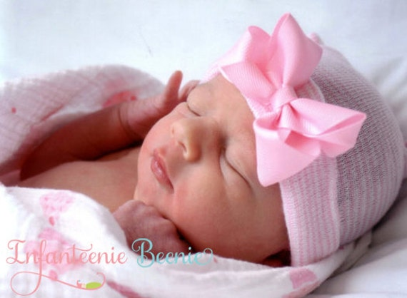 NEWBORN GIRL Newborn Girl Hospital Hat Newborn Hats Newborn