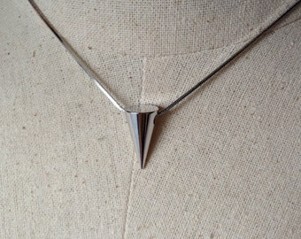 Silver Spike Necklace, Dainty Necklace